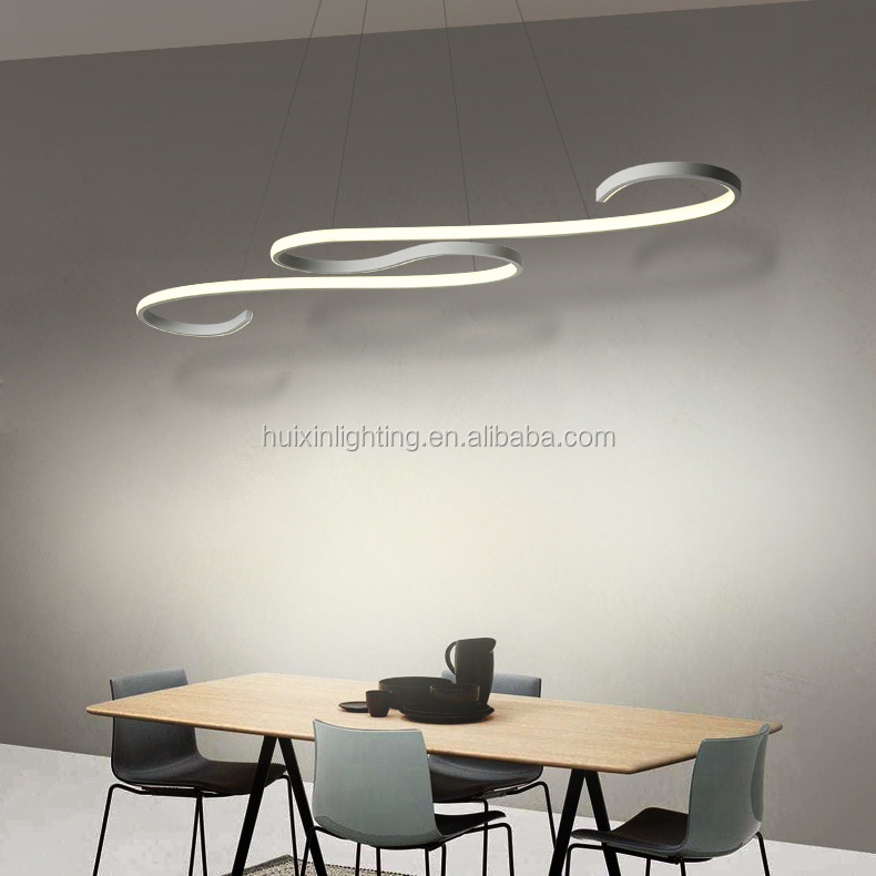 2019 best selling Nordic acrylic minimalist art chandelier home pendant lamp modern decoration with CE on stock