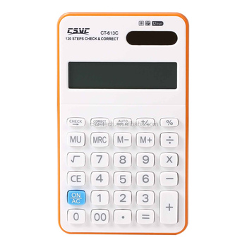 Compact Design Standard Function Check and Correct Calculator CT-613