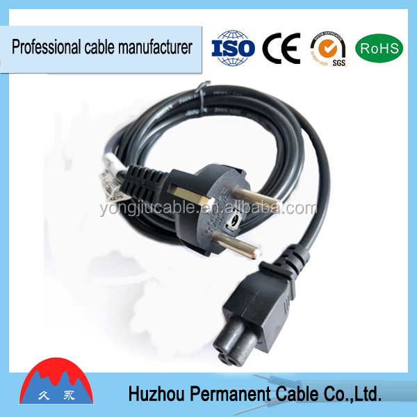 UL extension power plug cable 3-pin flat power cord