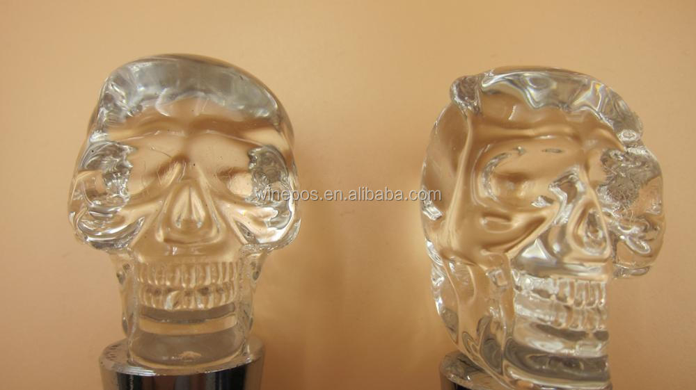 Wine Stopper / Glass Skulls wine stopper