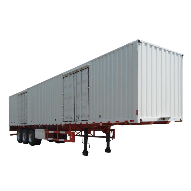 china 3 axles van box semi trailer with new factory price