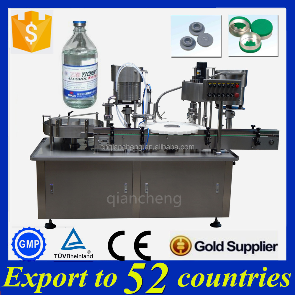 Big discount filling stoppering capping machine,vial filling and closing machine