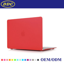 Crystal clear hard case ,laptop computer cover red color ,for macbook pro retina 13
