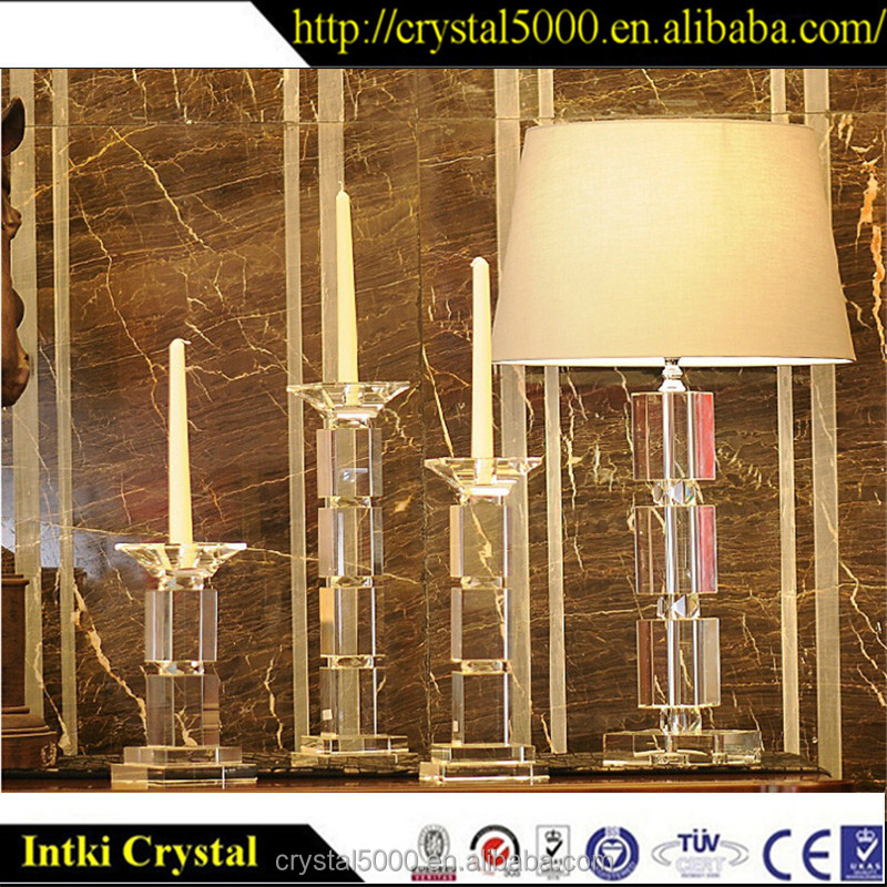 2017 New Design wedding crystal glass candle jar candleholder cristal cristal candle holders