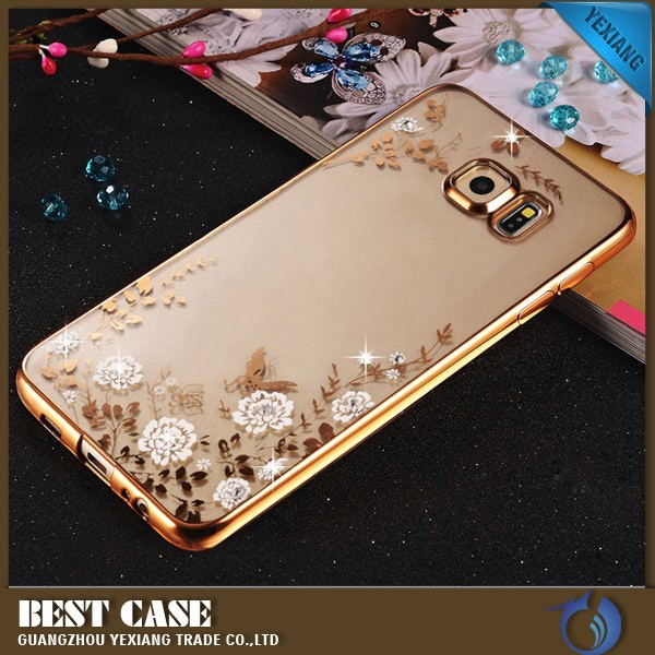 bling diamond 3d mobile phone cover for samsung galaxy s6 dege plus case