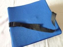Memory foam back support with wrap
