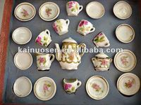 Vintaged porcelain toy tea set