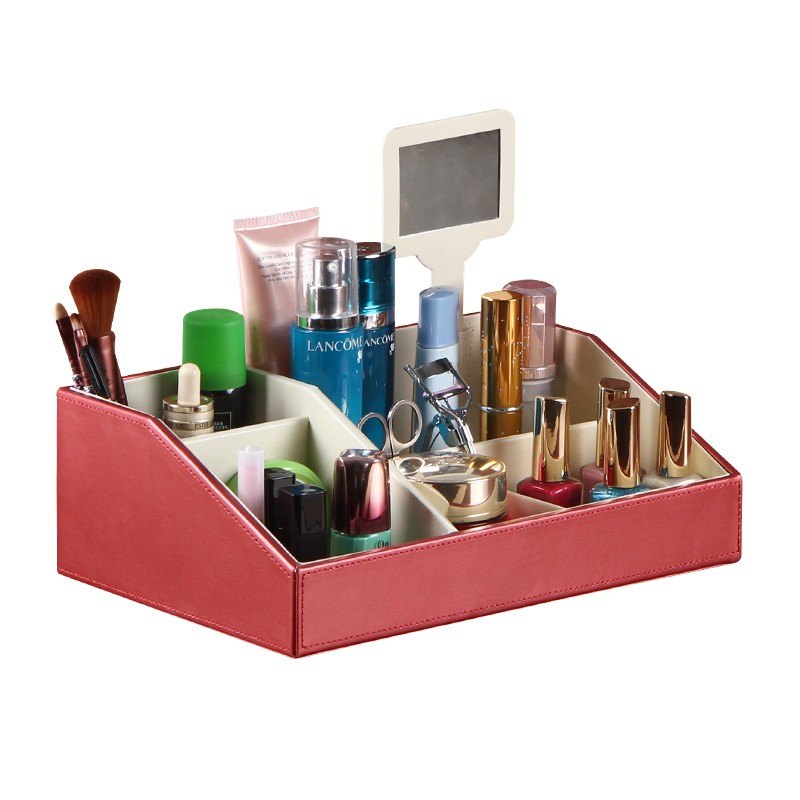 leather home storage boxes for perfume storage makeup
