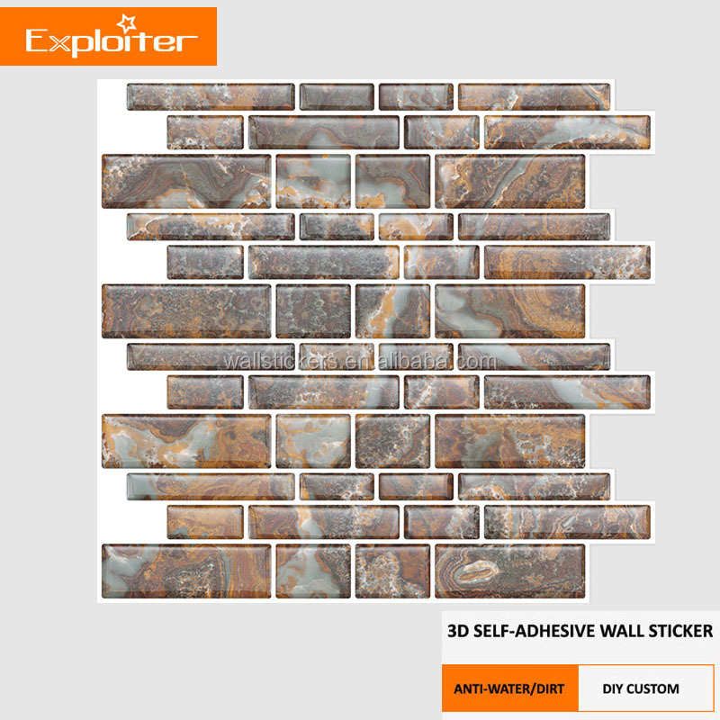 Bathroom pvc epoxy wall paper 3d modern wallpaper from china