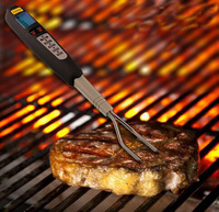 multi function fork bbq probe new type good cook meat thermometer