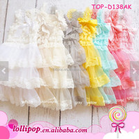 Wholesale Latest Fancy Petti Lace Ruffle 2 Year Old Girl Dress 2017 Baby Girl Party Dress Children Frocks Designs