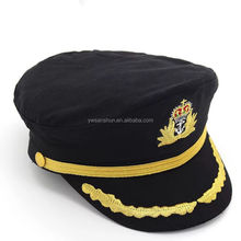 Full Cotton White Navy Cap Captain Uniform Hat For Men Women Pilots