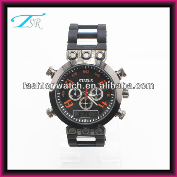 2013 shenzhen export to USA and Europe large case innovative digital quartz boys sport watches