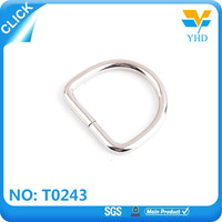 customized size d ring snap hook metal bag d ring