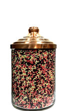 Glass Spice Jar With Copper Cover, Glass Jars for Bulk Foods, Sweet Candy Chocolate Cookie Jars BK1525
