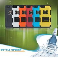 Two Parts Silicone + PC Hybrid Armor Case For iPhone 5 5S With Bottle Opener & Stand For iPhone 5S 5 Case
