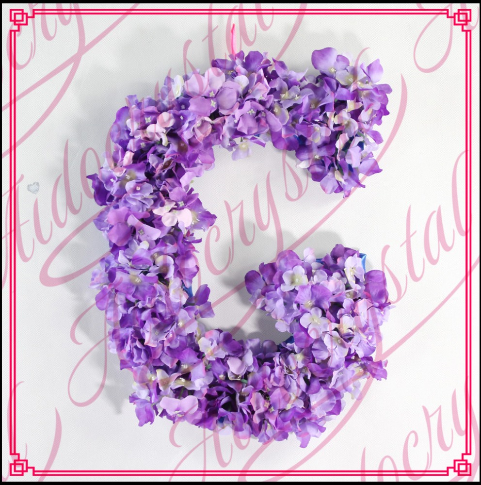 Aidocrystal Handmade Baby Gift Large Floral Nursery Decor Wedding Flower Letter