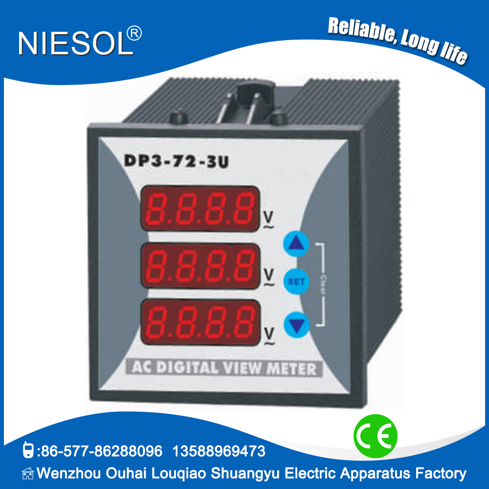 Alibaba China Supplier three phase meter small voltmeter and true rms digital multimeter