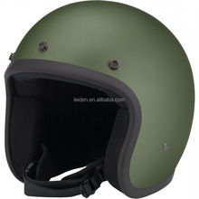 Motorcycle open face helmet DOT CE approved casco yema 921 german bell style vintage helmet