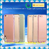 for iPhone 6S Case, Thin Slim Fit Crystal Clear Case + Diamonds Bumper Armor Scratch Resist protect