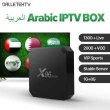 X96MINI Arabic IPTV Box with 1 Year QHDTV Subscription Android 7.1 TV Box IPTV Channels 4K IPTV Satellite Receiver