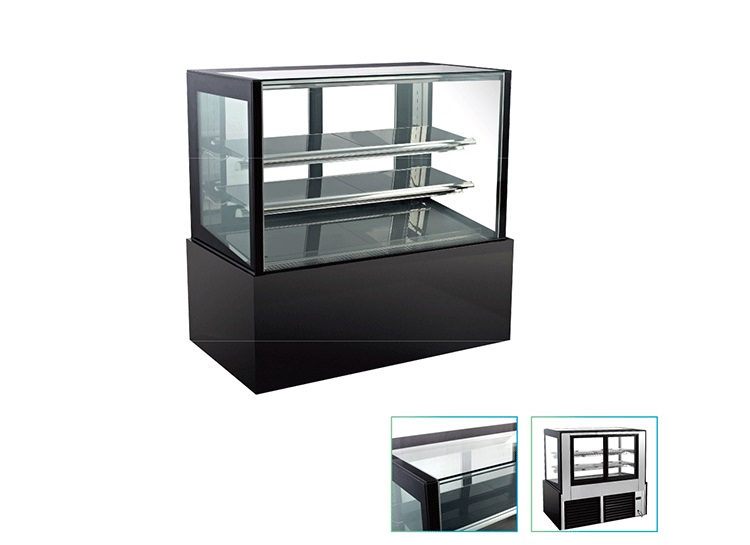 Cake display cooler back open glass door cake display refrigerator
