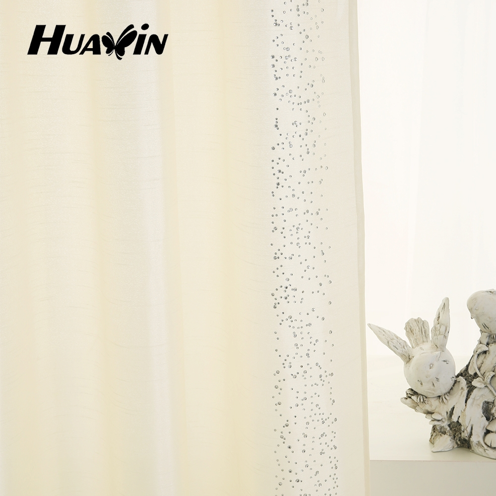 Hot drilling faux silk curtain fabric
