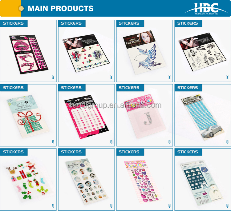 High Quality Rhinestone Sticker Sheets Hot Selling Made in China