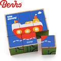 Six-sided animal 3d wooden puzzle blocks