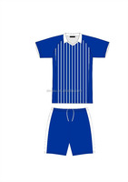 Dry fit football uniform soccer kits soccer jersey and short striped soccer unforms