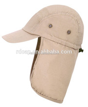 Flexfit Custom high quality UV protection foldable running sun cap hat with neck cover
