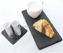 Appertizer Square slate plate in natural black perfectly for presenting colourful foods