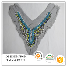 Italian Designs Stone Work Neck Design for Dress