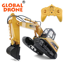 HuiNa Toys 350 15 Channel 2.4G 112 RC rc construction toy trucks excavator RTG rc excavator