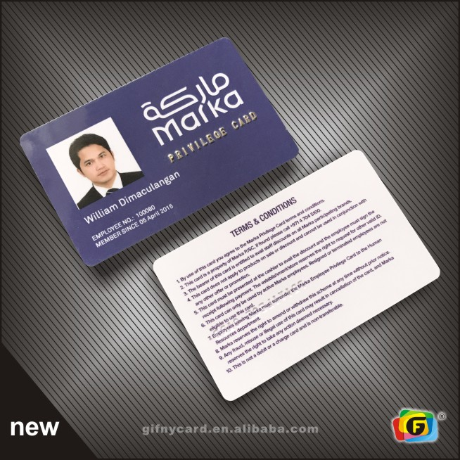 ISO Credit Card Size Full Printing Photo Chinese ID Cards