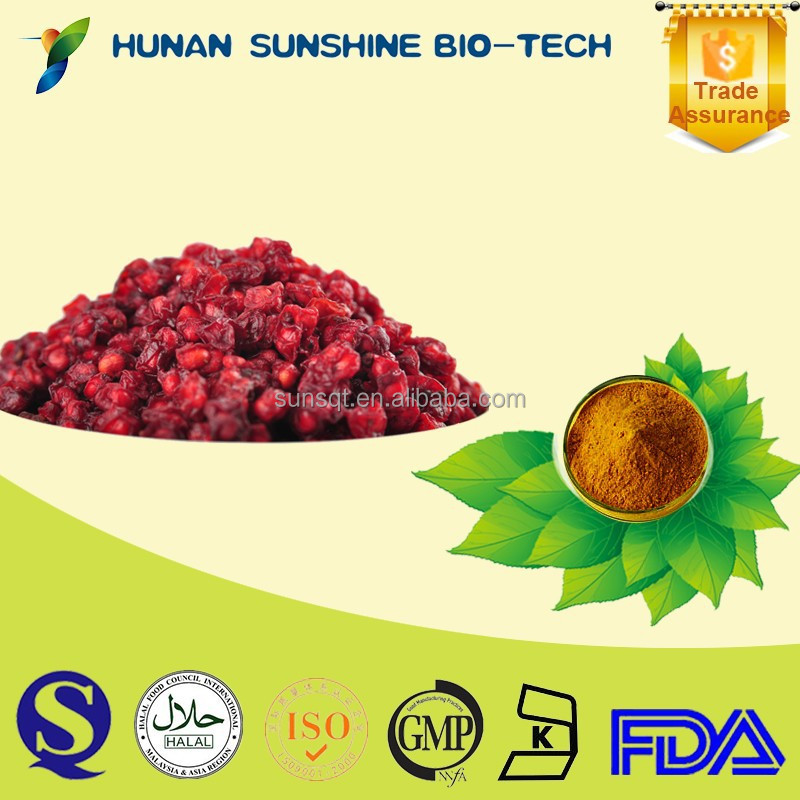 FDA Certified Free Sample Hunan Supplier schisandra P.E. powder Curing Night Sweating