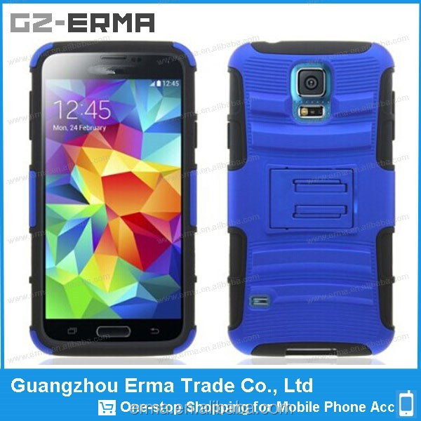 New arrival 3in1 PC Rubber Sport Belt Clip Holster Case for Samsung Galaxy S5