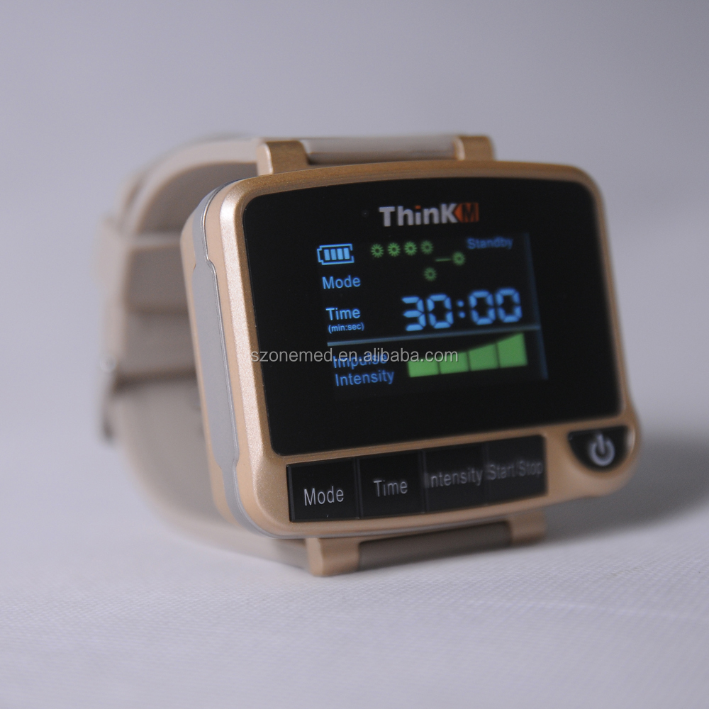 ThinkM Wrist watch laser therapy instrument to control blood pressure and cholesterol
