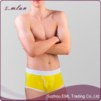 Wholesale men boxer briefs sexy mature pure color male underwear