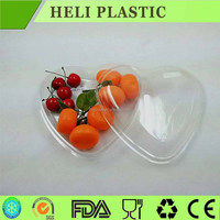 heart shape clear plastic fruit/salad tray