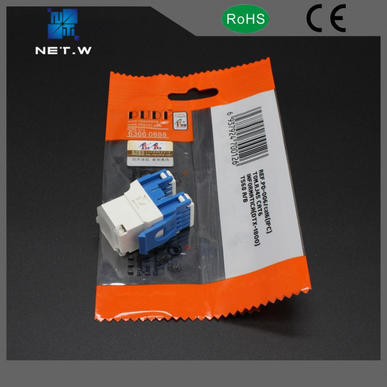 Cat6a Rg45 Female Rj45 Cat5e Cat6 Rj11 Keystone Jack