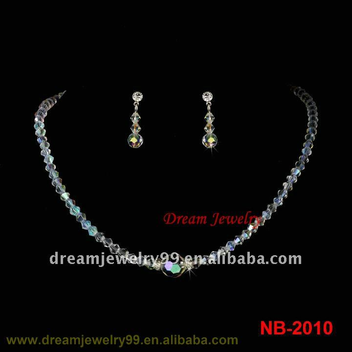fashion crystal bridal jewelry set