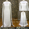 100% Real original designer custom made celebrity dress lace wedding dresses with detachable special shwal