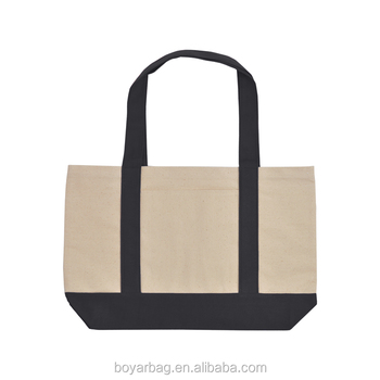 Custom handbag natural reusable canyon cotton canvas tote bag shopping