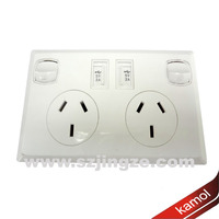 Wall plate USB Power with AC socket usb power source for portable device 5V 2A for strong power devices