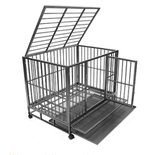Designer Dog Crates Square Tube Dog Cage With Wheels For Sale