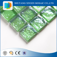 Interior decoration green crystal glass mosaic tile