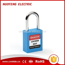 38MM Cheap Steel And Nylon Safety Padlock,Aluminum Safety Padlock
