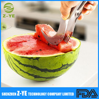 Watermelon Slicer Corer Server Stainless Steel Melon Slicer, Perfect Easy Quick Cutter By Depot Globe