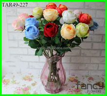 single stem artificial rose flowers Factory direct simulation flower center rose single rose living room coffee table